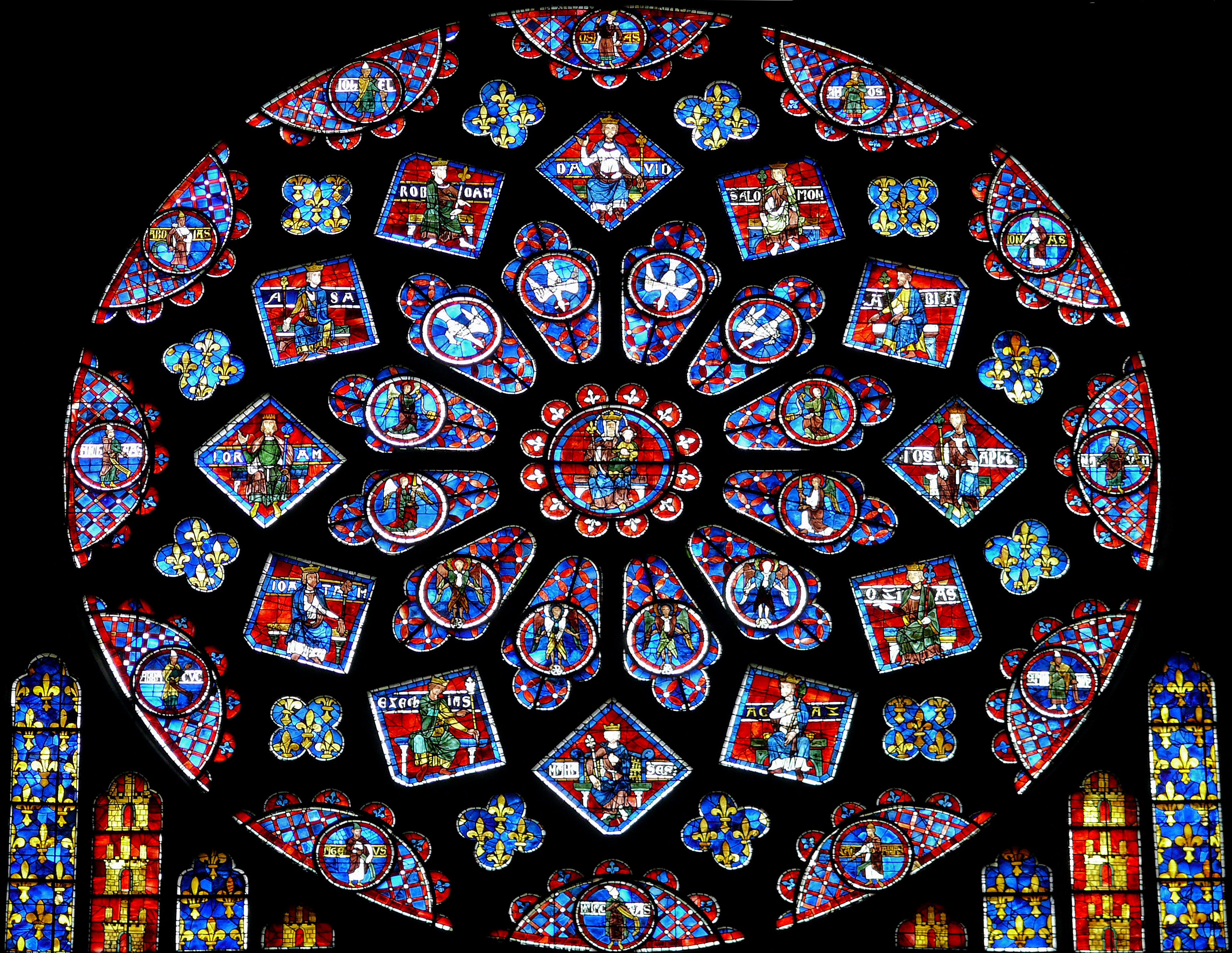 Image result for pictures of notre dame's rose window