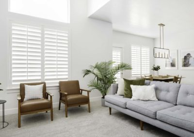 Wasatch Shutter White Planataion Shutters Great Room 9