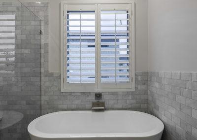 Wasatch Shutter White Planataion Shutters Master Bathroom 8
